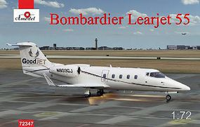 A-Model-From-Russia Bombardier Learjet 55 Business Jet (New Tool) Plastic Model Airplane Kit 1/72 Scale #72347
