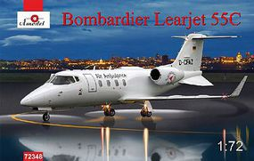A-Model-From-Russia Bombardier Learjet 55C Business Jet (New Tool) Plastic Model Airplane Kit 1/72 Scale #72348