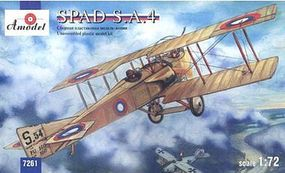 A-Model-From-Russia SPAD SA4 French WWI BiPlane Fighter (Re-Issue) Plastic Model Airplane Kit 1/72 Scale #7261