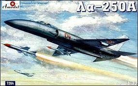 A-Model-From-Russia LA250 Interceptor w/275A Air-to-Air Missiles Plastic Model Airplane Kit 1/72 Scale #7264
