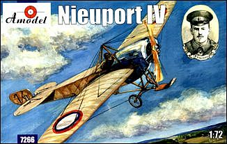 A-Model-From-Russia Nieuport IV WWI Recon Aircraft Plastic Model Airplane Kit 1/72 Scale #7266