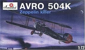 A-Model-From-Russia Avro 504K Zeppelin Killer Single-Seater Fighter Plastic Model Airplane Kit 1/72 #7268