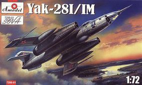 A-Model-From-Russia Yak28I/IM Soviet Interceptor (Re-Issue) Plastic Model Airplane Kit 1/72 Scale #7288