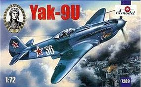 A-Model-From-Russia Yak9U Soviet Fighter Plastic Model Airplane Kit 1/72 Scale #7289
