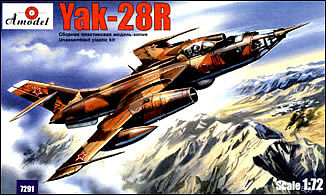 A-Model-From-Russia Yak28R Russian Bomber Plastic Model Airplane Kit 1/72 Scale #7291
