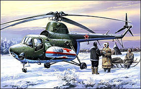 A-Model-From-Russia Mil Mi3 Military Ambulance Helicopter Plastic Model Helicopter Kit 1/72 Scale #7297
