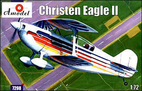 A-Model-From-Russia Christen Eagle II Double Seater American Sport Plane Plastic Model Airplane Kit 1/72 #7298