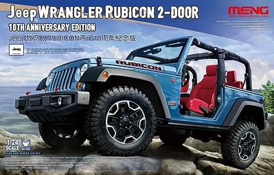 Meng Jeep Wrangler Rubicon 2 Door New Tool Plastic Model Truck Kit 1 24 Scale Cs3