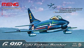 Meng G.91R Light Fighter Bomber Plastic Model Airplane Kit 1/72 Scale #ds004
