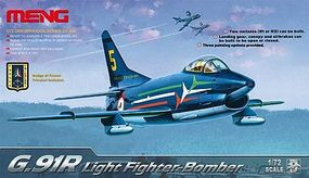 Meng G91R Light Fighter Bomber Plastic Model Airplane Kit 1/72 Scale #ds4