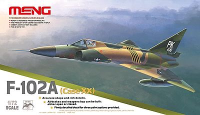Meng Model Kits F102A (Case XX) Supersonic Interceptor -- Plastic Model Airplane Kit -- 1/72 Scale -- #ds5