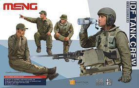 Meng IDF Tank Crew Figure Set (4) Plastic Model Military Figure Kit 1/35 Scale #hs2