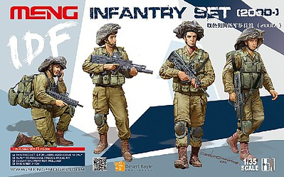 Meng Model Kits 1/35 IDF Infantry Figure Set (4)