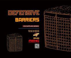 Meng Defense Barriers Plastic Model Military Accessory 1/35 Scale #sps032