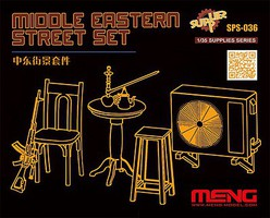 Meng Middle Eastern Street Set Plastic Model Military Diorama 1/35 Scale #sps036