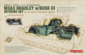 Meng M3A3 Bradley with Busk III Interior Plastic Model Military Vehicle Kit 1/35 Scale #sps17