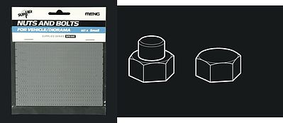 Meng Small Nuts & Hex Bolts Set A Plastic Model Vehicle Accessory 1/35 Scale #sps5
