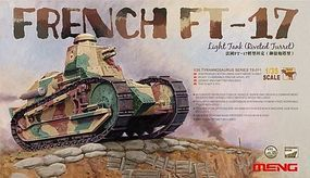 Meng French FT17 Light Tank (Riveted Turret) Plastic Model Military Vehicle Kit 1/35 Scale #ts11