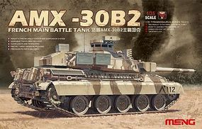 Meng AMX30B2 French Main Battle Tank Plastic Model Military Vehicle Kit 1/35 Scale #ts13