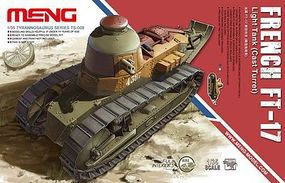 Meng French FT17 Light Tank (Cast Turret) Plastic Model Tank Kit 1/35 Scale #ts8