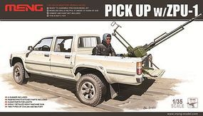 Meng Dual Cab Toyota Hi-Lux Pickup Truck with ZPU1 Gun Plastic Model Truck Kit 1/35 #vs1