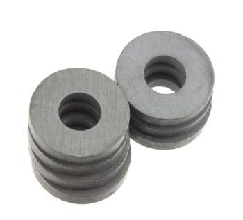 Magnet-Source .7 OD x .3 ID x .118 Thick Ceramic Ring Magnets (6)