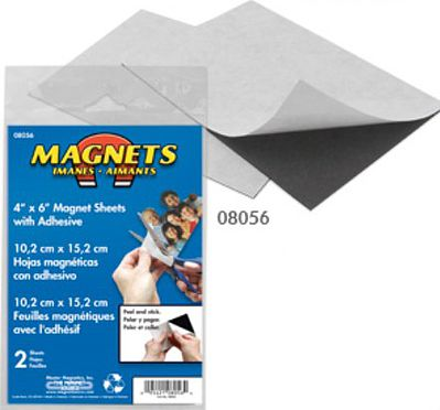 The Magnet Source 4'' x 6'' Flexible Magnetic Sheets w/Adhesive (2)