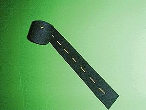 Mini Highways Straight Passing Zone Yellow Dashed Line 9' -- Model Railroad Road Accessory -- N Scale -- #101