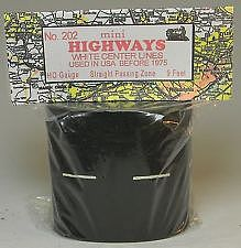 Mini Highways Straight Passing Zone with Pre-1970 Dashed Line -- Model Railroad Road Accessory -- HO Scale -- #202