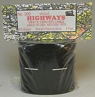 Mini-Hwy Straight Passing Zone with Pre-1970 Dashed Line Model Railroad Road Accessory HO Scale #202