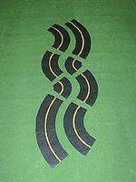 Mini-Hwy Roadway Curved 6 Model Railroad Road Accessory HO Scale #203