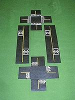 Mini-Hwy Railroad Crossing & Intersection Model Railroad Road Accessory HO Scale #205