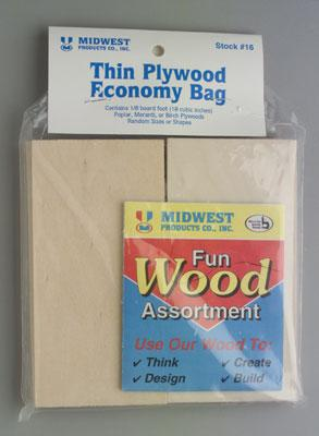 Midwest Econ Bag Thin Plywood 12/ (12)