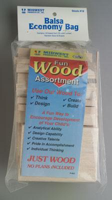 Midwest Econ Bag Balsa Wood 24/ (24)