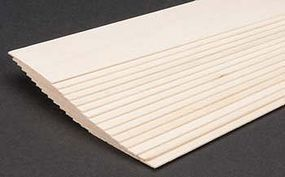 Midwest Basswood Sheets (1/32 x 2 x 24) (15) Hobby and Craft Building Supplies #4110