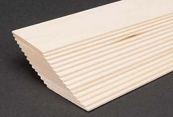 Midwest Basswood 2 sheet (1/16 x 2 x 24) (15) Hobby and Craft Building Supplies #4111