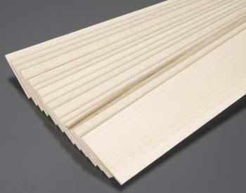 Midwest Basswood Sheets (3/32 x 2 x 24) (15) Hobby and Craft Building Supplies #4112