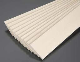 Midwest Basswood Sheets (3/16'' x 2'' x 24'') (10) Hobby and Craft Building Supplies #4114