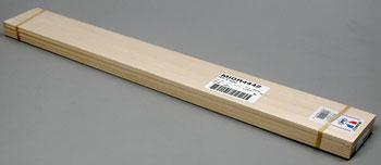 Midwest 1/16'' x 3'' x 24'' Basswood Flooring/Siding 1/2'' Groove -- Model Railroad Scratch Supply -- #4442