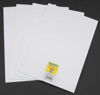 Midwest Styrene Sheets, White, .060 x 7.6'' x 11'' (4)
