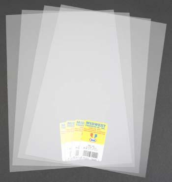Midwest Clear PVC, .010 x 7.6'' x 11'' (4)