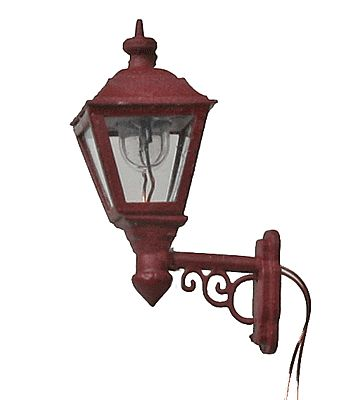 Wall Lamp Working Red Model Railroad Lighting HO Scale 7423 By Midwest 7423