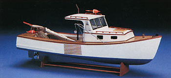 Boothbay Lobsterboat R/C Kit (mid964) Midwest RC Wooden Scale Powered Boat Kits