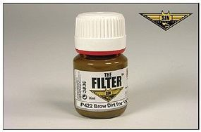 MIG Enamel Brown Dirt Filter for White Camo 35ml Bottle