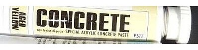 MIG Productions Acrylic Concrete Paste Aged Yellow 20ml Tube