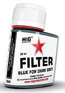 MIG Enamel Blue Filter for Dark Grey 35ml Bottle (Re-Issue)