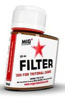 MIG Enamel Tan Filter for Tritonal Camo 35ml Bottle (Re-Issue)