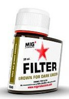 MIG Enamel Brown Filter for Dark Green 35ml Bottle (Re-Issue)