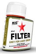 MIG Enamel Grey Filter for Light Green 35ml Bottle (Re-Issue)