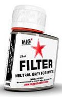 MIG Enamel Neutral Grey Filter for White 35ml Bottle (Re-Issue)